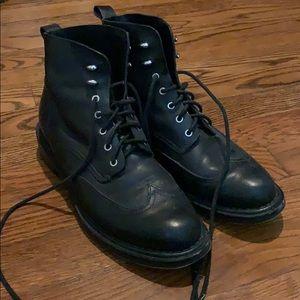 Rag & Bone black leather wingtip boots